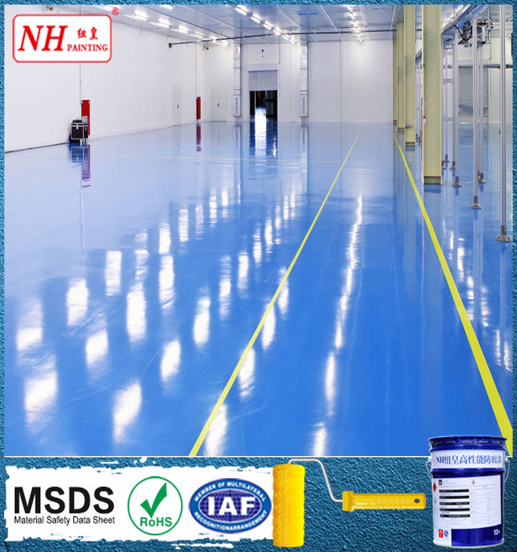 epoxy floor paint high-build anti-abrasion epoxy coating for concrete
