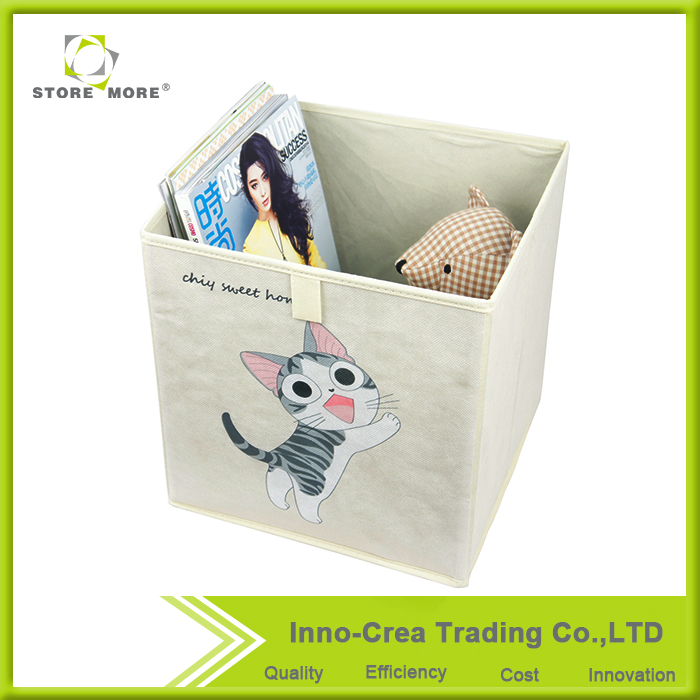 Hot Selling OEM Cute Cat Foldable Non-woven storage container
