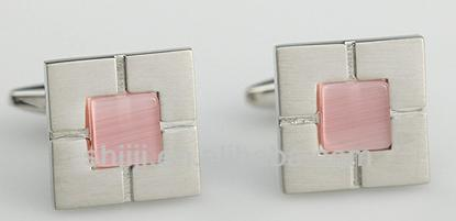 Exquisite silver plated cufflinks