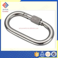 High Quality Surface Treated Straight Type Mini Carabiner Wholesale with Screw