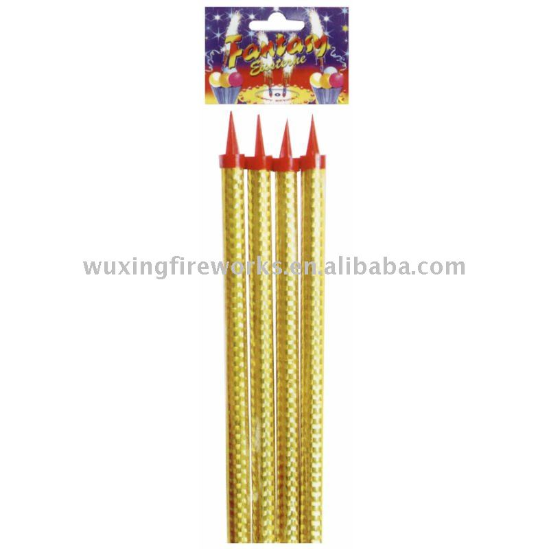 30cm Birthday Candle Cake Fountain ice fireworks