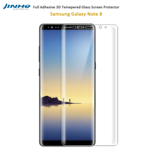 3D Screen Protector Full Adhesive Tempered Glass For Samsung Galaxy Note8 Total HD Clear 0.3mm 9H Hardness