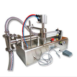 Hot Sale Semi Automatic Pneumatic Liquid Wine Filling Machine for Commodity