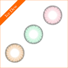 2016 new arrival color contact lens beauty eye doll lens one year soft circle lenses ice dew contact lenses