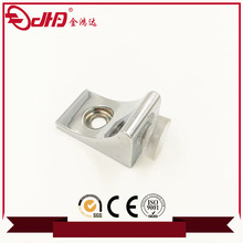 Furniture hardware chrome plated invisible cabinet shelf support with screw hole