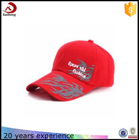High Quality Embroidered 100% Cotton Printed Custom 6 Panel Red Hat