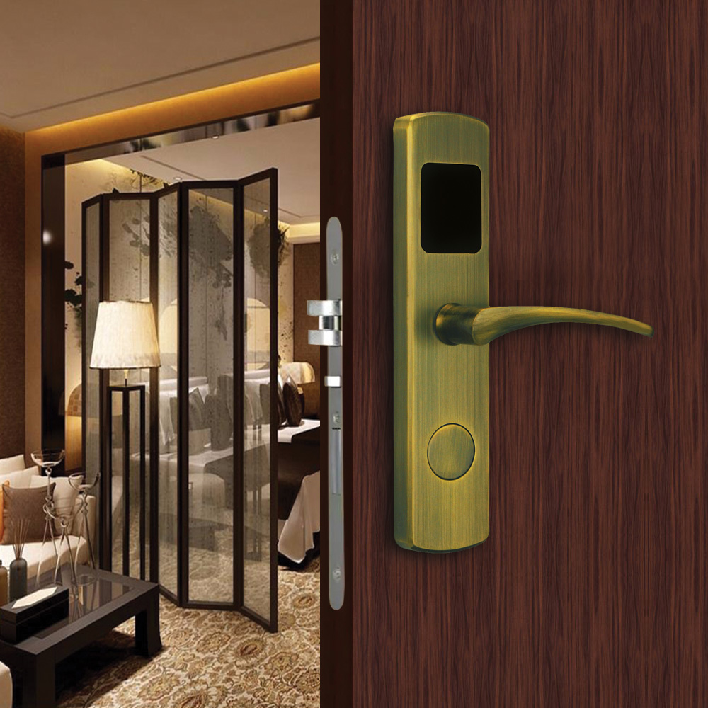 European Standard Electronic door Lock RFID card hotel lock door Hotel Door Lock System with free software