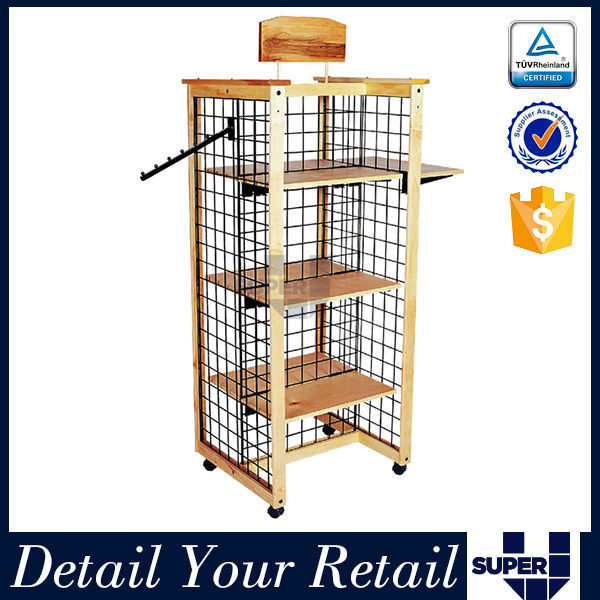 movable 4 sided boots display stand,metal wire free standing