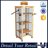 movable 4 sided boots display stand metal wire free standing