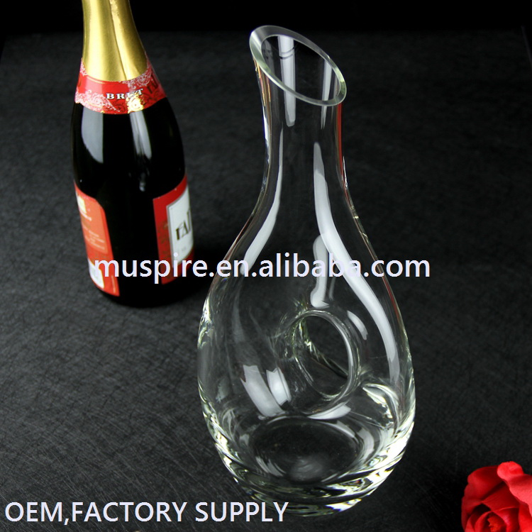 China-made best selling art glass wine decanter