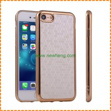 electroplated frame soccer pattern phone case for iphone 7