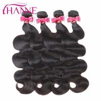 Hanne 8A Super Peruvian Virgin Hair Body Wave Remy Hair Extension 10-28 Inch Human Hair Bundles Natural Color for Black Women