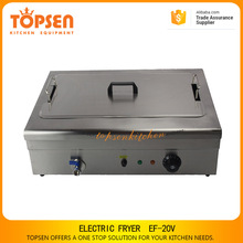 Industrial new electric chicken deep fryer machine / funnel cake fryer for restaurant and hotel