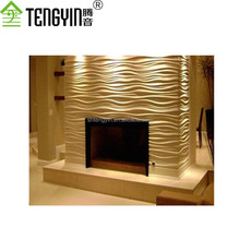 China suppliers new goods cheap 3D MDF wave decorative interior wall boards