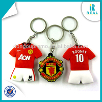 Promotion Silicone Rubber Football Key Chain Key Rings