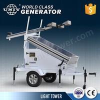 Green energy lighting tower mobile trailer mounted 1120W 4 pcs LED light