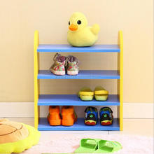 Four-Layer Wood Shoe Rack for kids Home Fashion Shoe Shelf Creative Shoe Storage Holder