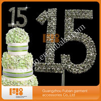 doubles numbers crystal rhinestone Cake Topper Wholesales