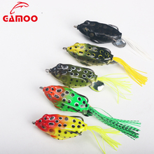 Outdoor Fishing Tackle 11cm/14g Simulation Frog Fishing Lure With High carbon steel hooks