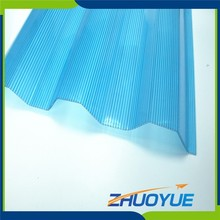 2mm thick recycled bulletproof polycarbonate transparent corrugated sheet for sound insulation