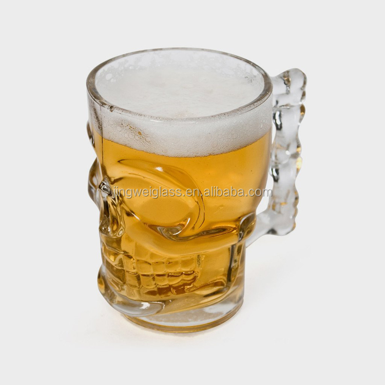 Clear skull glass mug skull beer stein