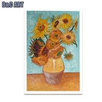 Vincent Van Gogh Sunflower Impressionism Oil Painting Handpainted Canvas Art for Hotel Room Decor