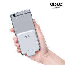 OISLE Ultra Thin Mobile Power Pack for iPhone Innovation Factory Price 2200mAh Power Bank