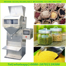 semi-automatic rice/nuts/grain/seed/granule weigh filler packaging machine