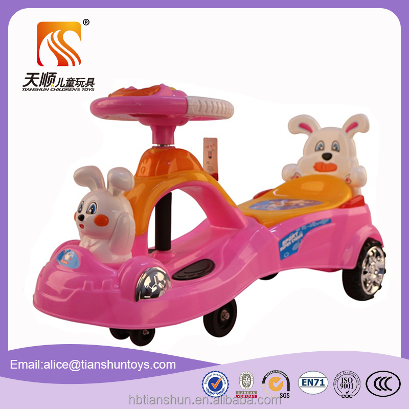 new plastic kids swing toy car for big baby ride on car toys made in china