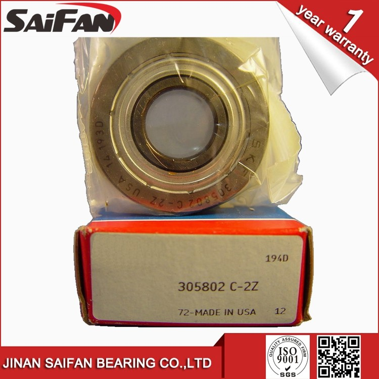Double Row Angular Contact Ball Bearing 305802 C-2Z Track Roller Bearing 305802 Size15x40x15.9mm