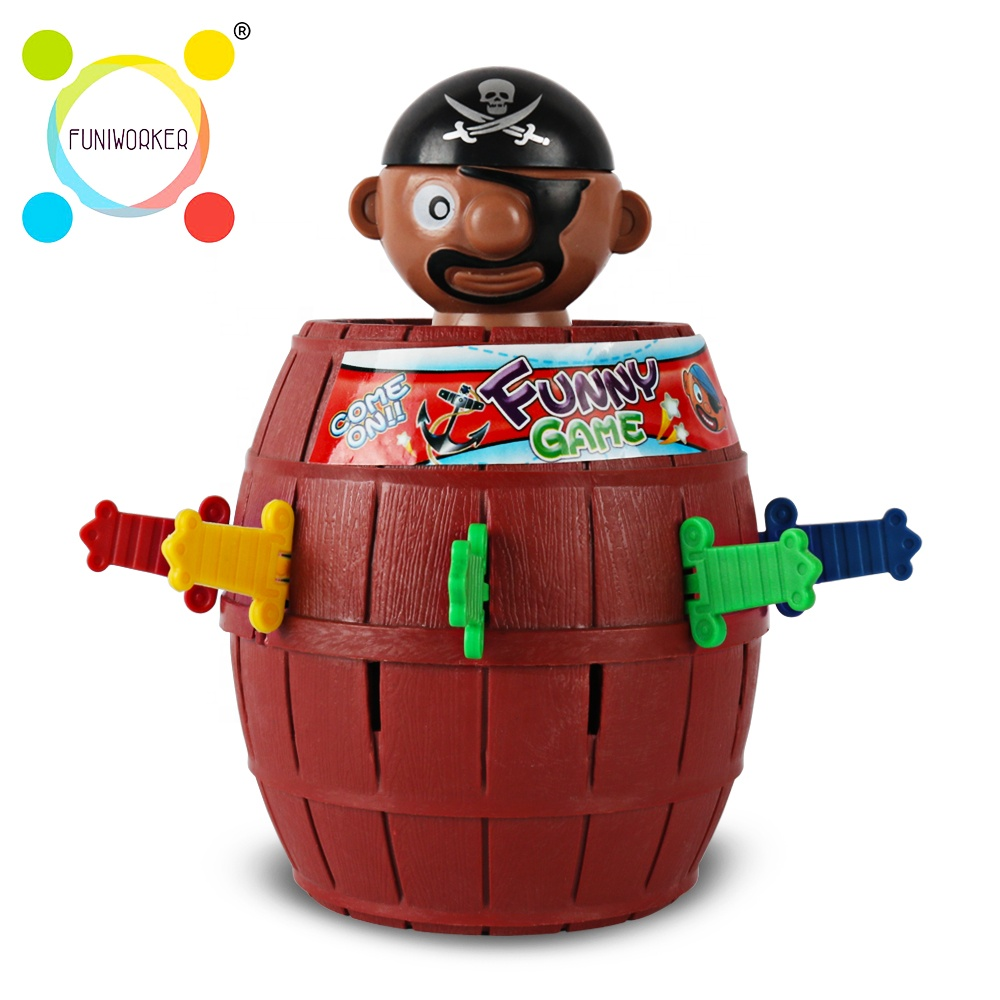 Intellectual tricky game toys barrel pop up pirate for <strong>kids</strong> play