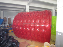 Customized colorful 1.0mm PVC inflatable water ball toys roll inside inflatable ball for sale
