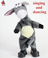 hot sale !!plush singing and dancing donkey toys