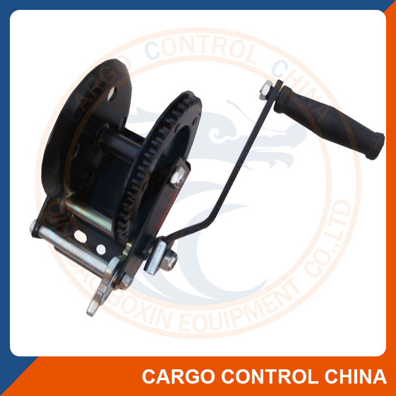 1097 Powder coated single gear lifting marine hand winch