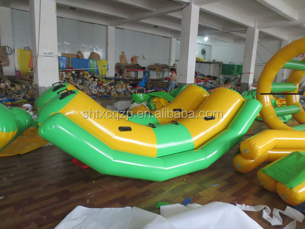 inflatable teeter totter water toy