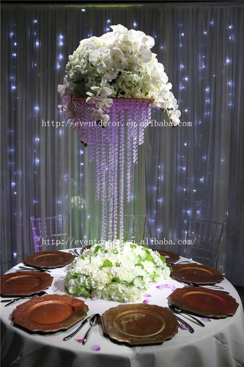 5tiers clear acrylic crystal centerpieces chandelier table for Buy wedding centerpieces