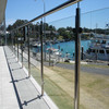 Modern balcony stainless steel glass railing design with high quality
