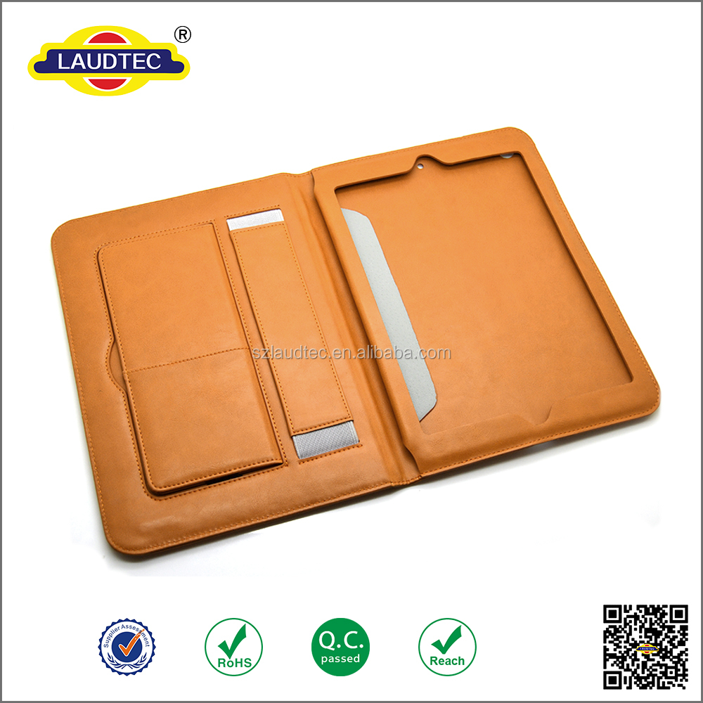 Magnetic Real Genuine Leather Smart Case Cover For iPad mini 1/2/3 Brown