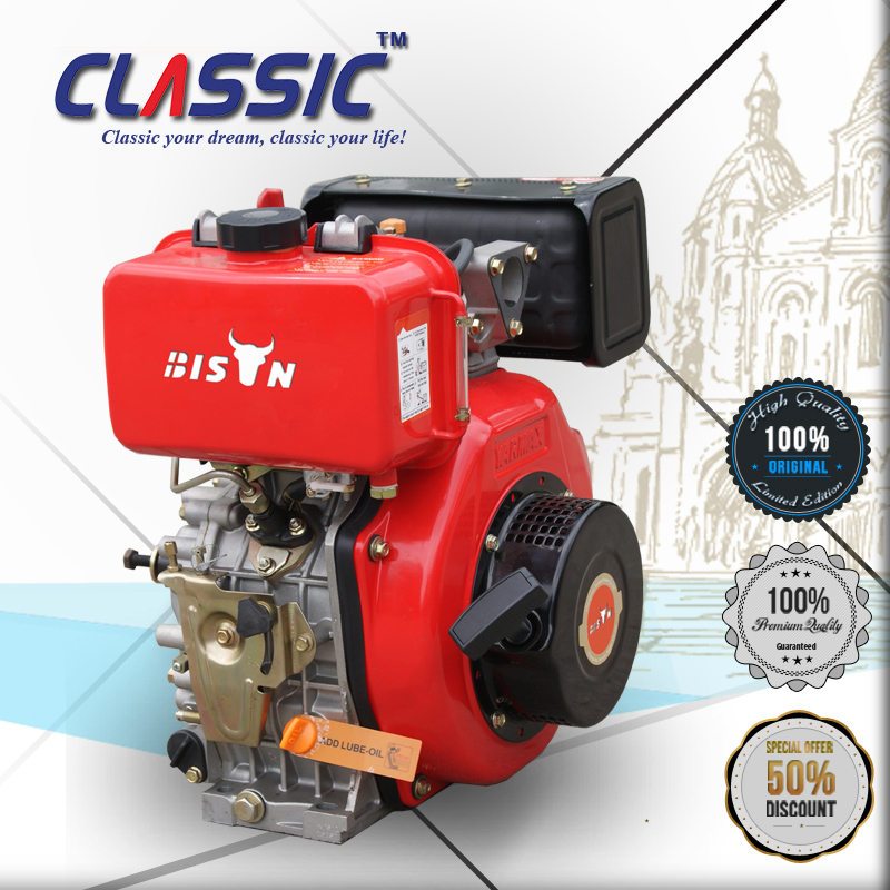 CLASSIC CHINA 13HP Single Cylinder Air Cooled Greaves Diesel Engine, 5.7KW Light Weight Small Diesel Engine