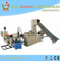 Waste Plastics PET Granulating Machine for PET Flakes Double Stages Recycling