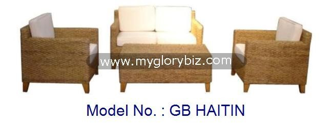 Waterhiacynth Sofa Set, Outdoor And Indoor Sofa Set, Rattan Sofa Set, Rattan Armchair, Modern Sofa Set For Home Furniture