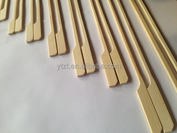 Custom personalized Round heart-shaped bamboo skewers