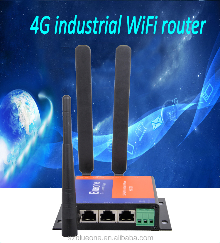 150Mbps Industrial Grade 4G LTE Router with SIM Card Slot External Antenna