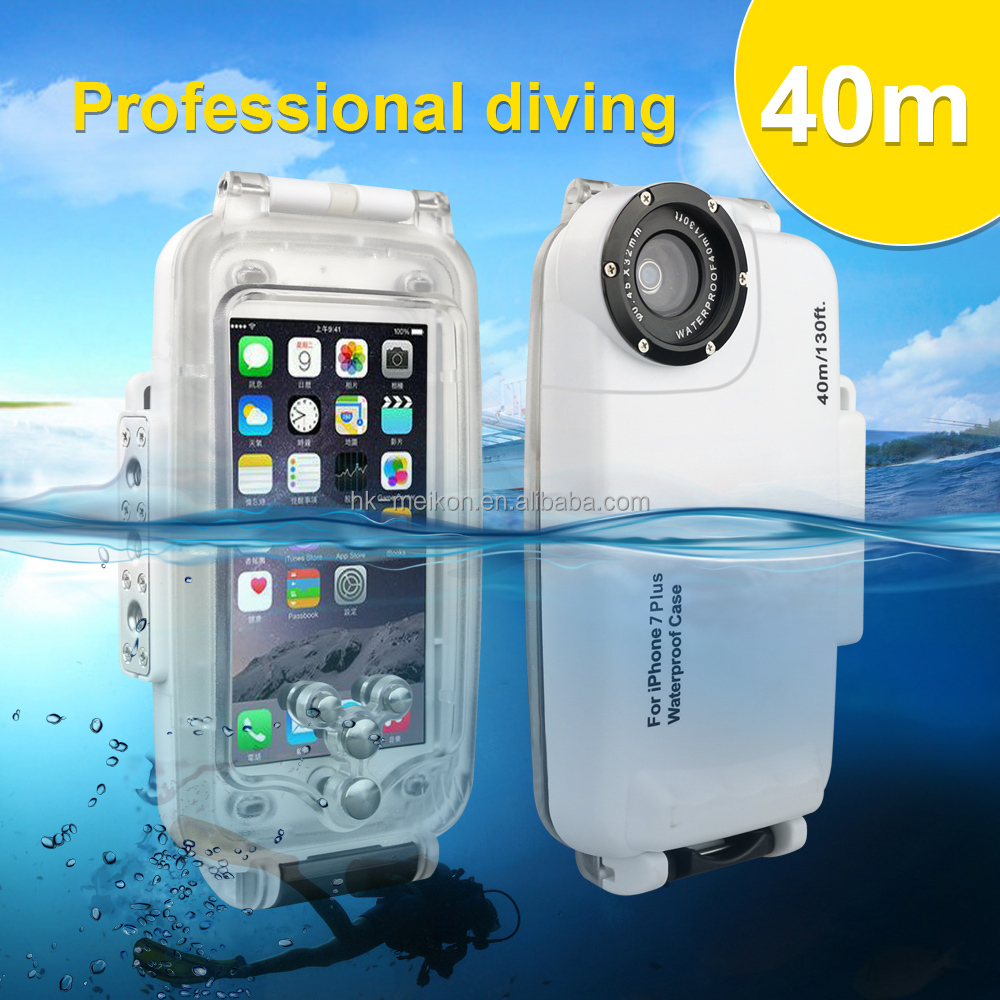i7 5.5 Inch For Waterproof iPhone 7 Plus Case Meikon 40M Underwater Swimming Diving <strong>Phone</strong> Waterproof Case for iPhone 7 Plus
