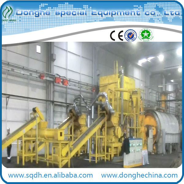 Advanced machinery convert waste tire to fuel oil with continuous operation used rubber recycling machine
