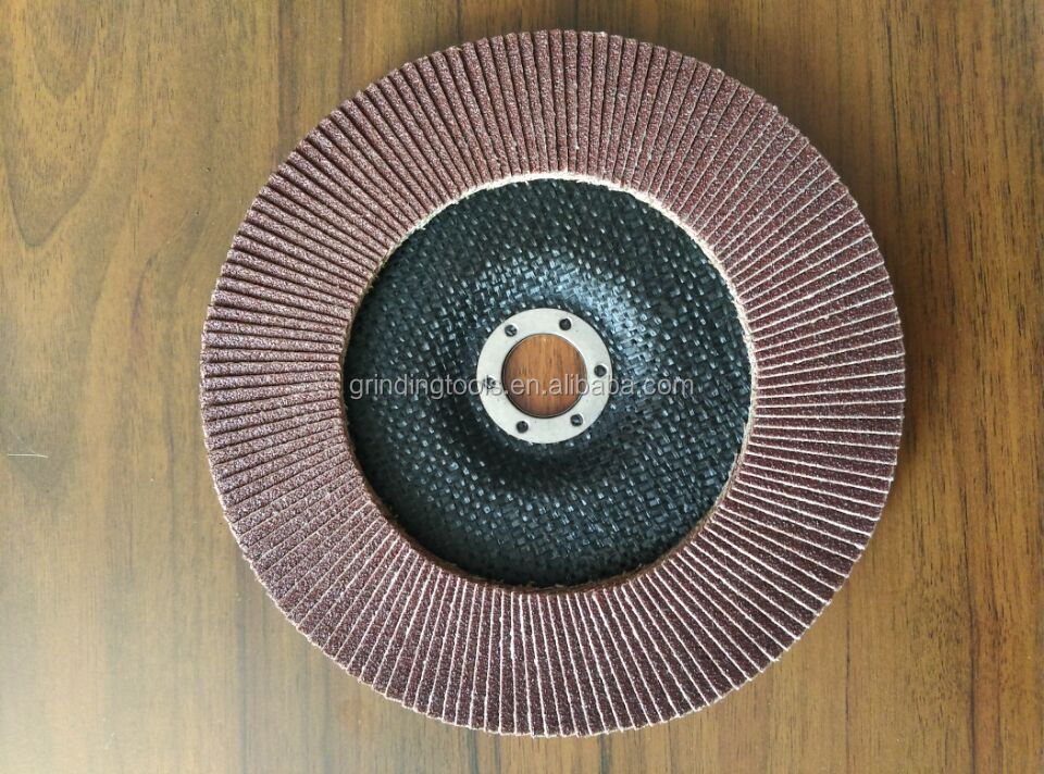 7'' 180x22mm aluminium oxide flap disc grit 100