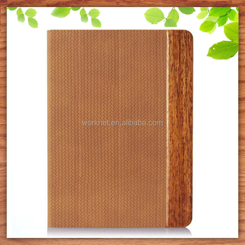 China manufacturer real wood pu leather tablet case for Apple iPad mini 4, wholesale accessories for iPad