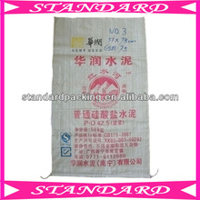 white pp polypropylene woven cement packing bag
