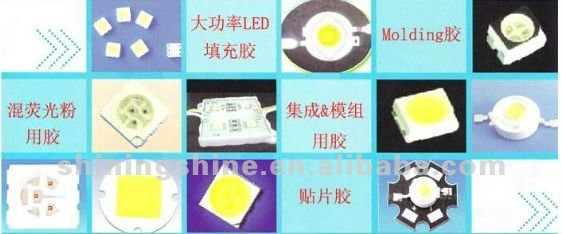 LED electronic components module potting silicone rubber