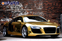 Fashionable Design 1.52x30M Air Free Bubbles gold Mirror Chrome Car Vinyl Wrap Film